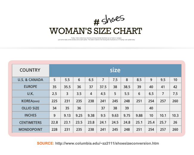 Indian Shoe Size Chart In Euro
