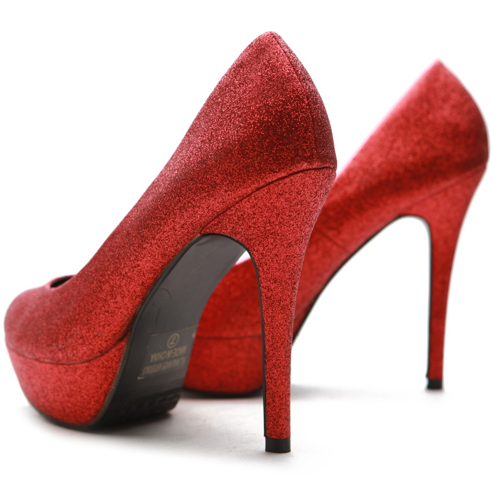 Sparkly Red Heels - Qu Heel