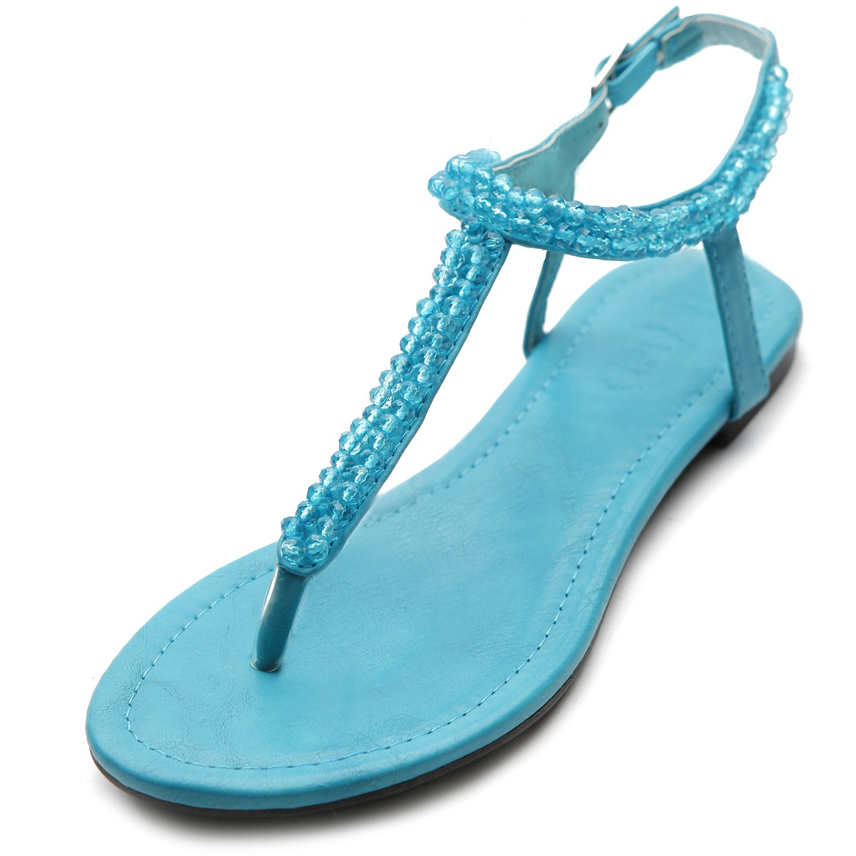 Unique Ollio Womens Shoes Beaded Thong Multi Colored Flat Sandals  EBay