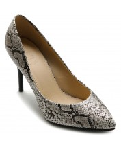 M9010 Snakeskin Pointed Toe Pumps