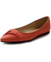 M1833 Pleated Pointed Toe Flats