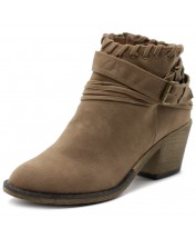 TWB0001 Buckled Zip Up Ankle Boots