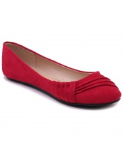ZM1845 Decorative Pleat Casual Flats
