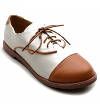 M2909 Lace Up Two Tone Oxfords