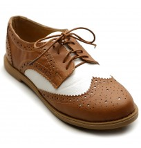 M2913 Lace Up Two Tone Oxfords