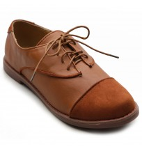 ZM2909 Lace Up Two Tone Oxfords