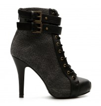 ZM10908 Military Buckle Ankle Boots