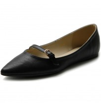 M1832 Pointed Toe Mary Jane Flats
