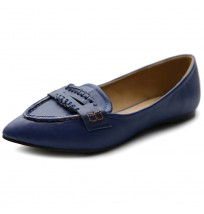 M1824 Pointed Toe Penny Flats