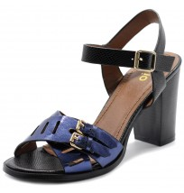 FT0010 Double Buckle Metallic Sandals