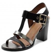 FT0013 T-Strap Stack Block Sandals