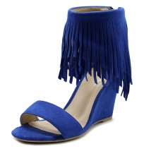 HW0003 Fringe High Heel Wedge Sandals