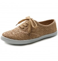 ML027 Lace Up Sneaker Canvas Flats