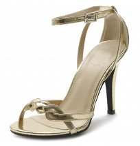 M10924 Front Twisted Ankle Strap Sandals