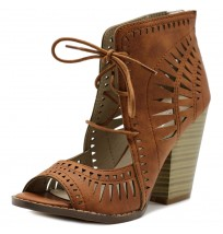 MH041 Ankle High Heel Bootie Sandals