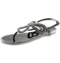 ML020 Crystal Beads Jelly Sandals