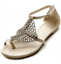 ZM1809 Crystals Thong Sandals