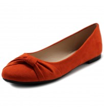 ZM1815 Suede Ribbon Flats