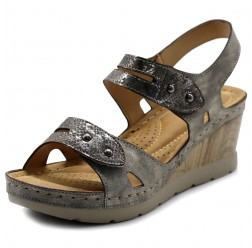 BN0006 Two Strap Wedge Sandals