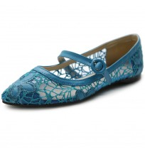 ZM1827 Mary Jane Lace Flats