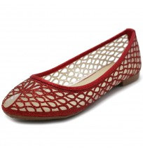 BN0010 Water-Drop Pattern Ballet Flats