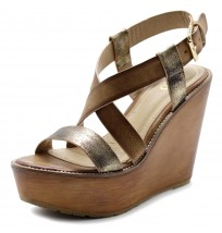 FT0003 Wedge Cross Strap Sandals