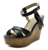 FT0004 Ankle Cuff Heel Wedge Sandals