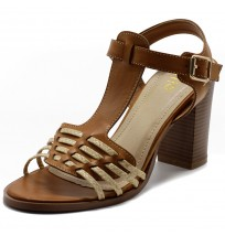 FT0012 Braided T-strap Sandals